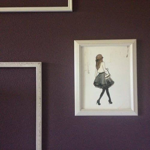 Paintings by Kendall Temotio seen at Private Residence, Ponte Vedra Beach - Fashion Illustration