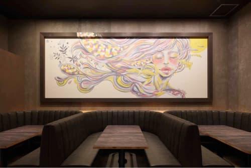 Murals by silsil seen at Katano, Katano - potto cafe wall