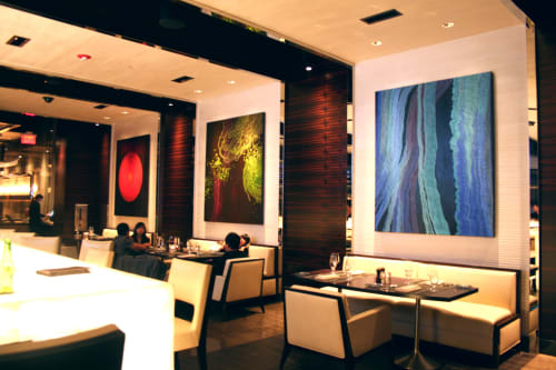 Paintings by Trang T. Le seen at Graton Resort and Casino, Rohnert Park - In Control, Hanging, Reminiscent of Day 5