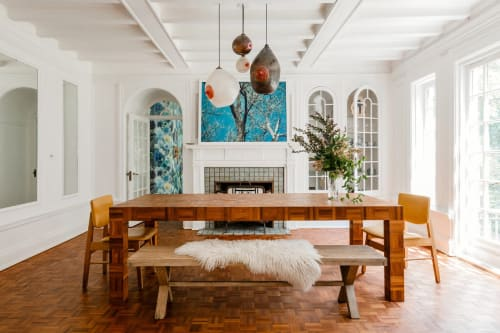 Wall Hangings by Coco Dolle seen at Private Residence, New York - Arizona Blues