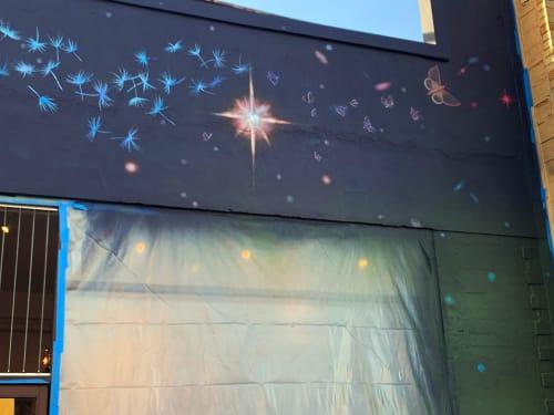 Murals by Lindsey Millikan (Milli) seen at Julie's Coffee & Tea Garden, Alameda - Lindsey Millikan