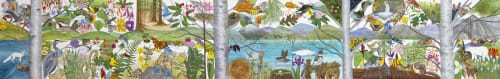 Murals by Trena McNabb seen at Stanford Children's Health | Lucile Packard Children's Hospital Stanford, Palo Alto - Landscapes of Northern California