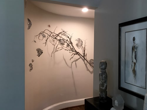 Wall Hangings by Leisa Rich seen at Private Residence, Atlanta - Going To Roost (But not quite yet!)