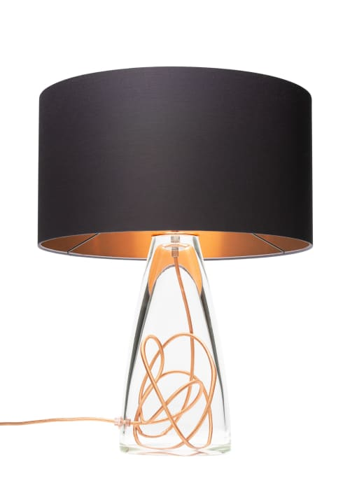Lamps by LUMi Collection seen at Private Residence, Seattle - SERAFINA Lamp · Clear+Charcoal+Copper