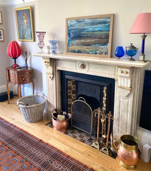 Paintings by Sarah Watson seen at Private Residence, London - Allonby Beach, Lake District