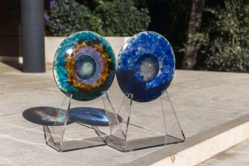 Sculptures by Studio Orfeo Quagliata seen at Private Residence, Mexico City - RETNA Multicolor Decorative Cast Glass Piece