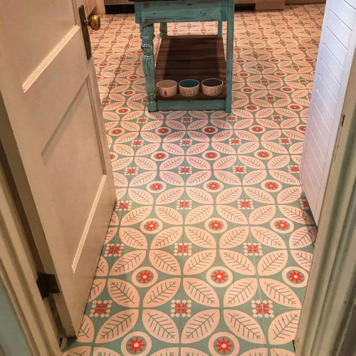 Tiles by Mirth Studio seen at Molly O'Bryan's Home - Floor Tiles