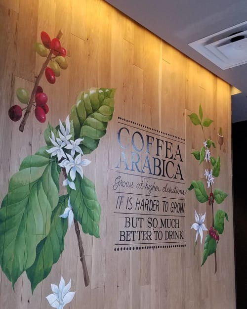 Murals by Cindy Fletcher-Holden seen at Starbucks, Baltimore - Indoor Mural