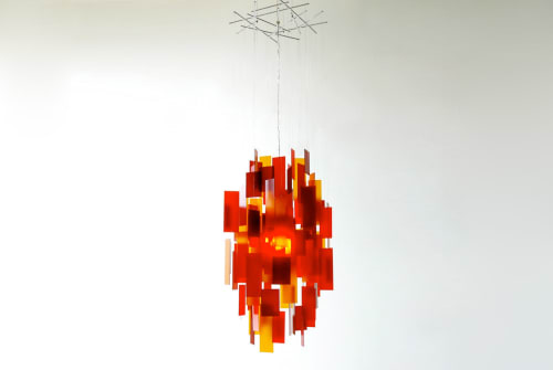 Chandeliers by Propellor Studio seen at Spanish Banks Beach - Cumulus 18 Chandelier