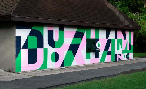 Murals by Will Dove seen at Durham, Durham - Durham