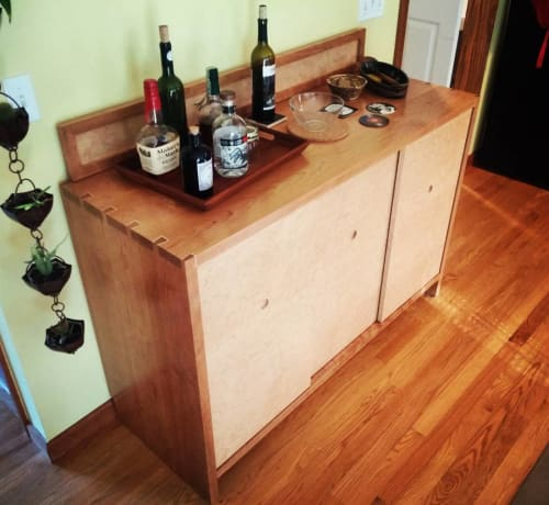 Furniture by Labiche Woodworks seen at Private Residence, Enfield - Bar Cabinet