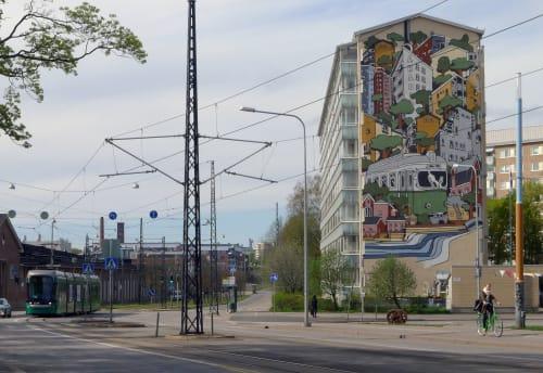 Murals by Jukka Hakanen seen at Helsinki, Helsinki - Arabia