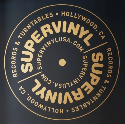 Signage by Christopher Lord Designs seen at SUPERVINYL, Los Angeles - SUPERVINYL Logo