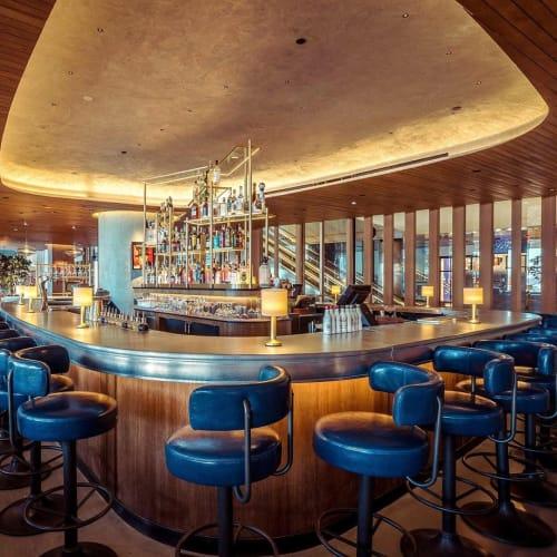 Furniture by La Bastille seen at Queensyard, New York - Custom zinc bar-top