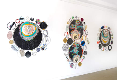 Wall Treatments by Amber Robles-Gordon seen at Morton Fine Art LLC, Washington - Third Eye Open, Kepler 19 b, c and Orbits Installation