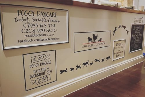 Murals by Bespoke To You seen at Paws For Coffee, Hampton Hill - Paws Community Board