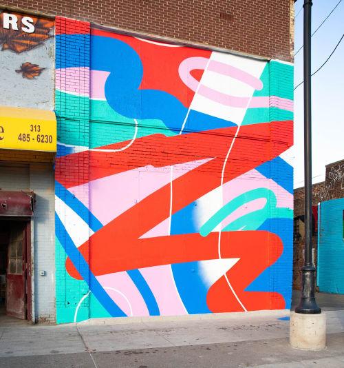 Street Murals by Joe Geis seen at Detroit, Detroit - Detroit Eastern Market Mural