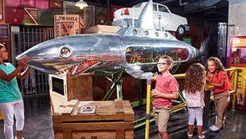 Sculptures by Nemo Gould seen at Ripley's Believe It or Not!, Gatlinburg - Megalodon