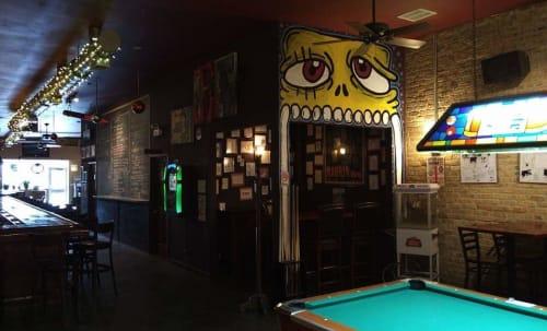 Murals by Zach Bartz seen at Cork Lounge, Chicago - Cork Lounge Critter