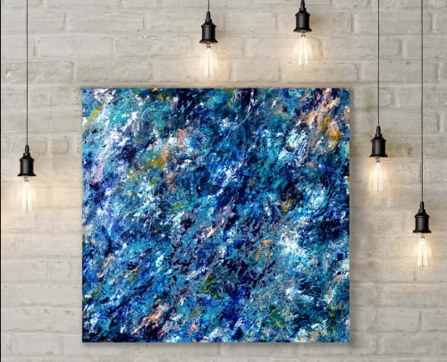 Paintings by Virginia Rose seen at Private Residence | Melbourne, VIC, Melbourne - Exploration of Blue