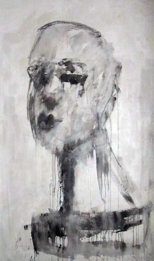 'Preparing A Face' | Paintings by Corinna Button