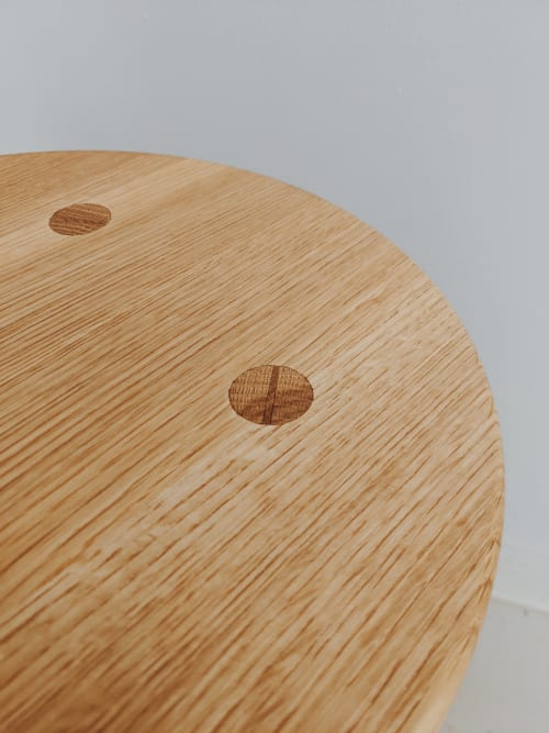 Chairs by Claterpult Woodworks seen at Creator's Studio, Langley - JP Reimer