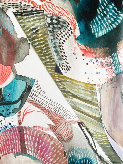 Paintings by K'era Morgan seen at Creator's Studio, Los Angeles - Energy in Motion