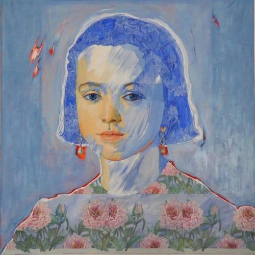 Paintings by Paulina X. Miranda seen at Private Residence, Tolfa - Los Despiertos serie (The Awakened)