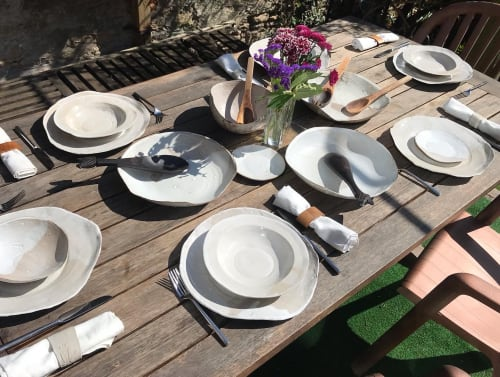 Ceramic Plates by Kate Cooke Ceramics seen at Private Residence, Frome - Natural plates