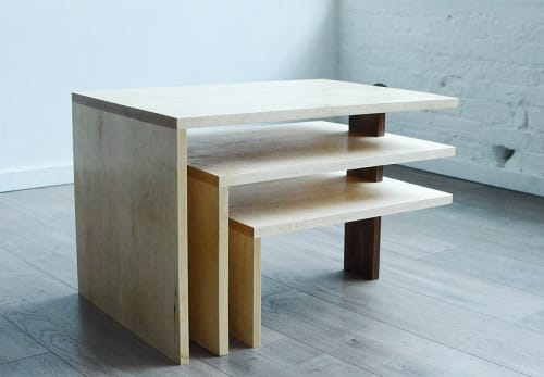 Tables by THE IRON ROOTS DESIGNS seen at Creator's Studio, Portland - Three Tier Modern Coffee Table