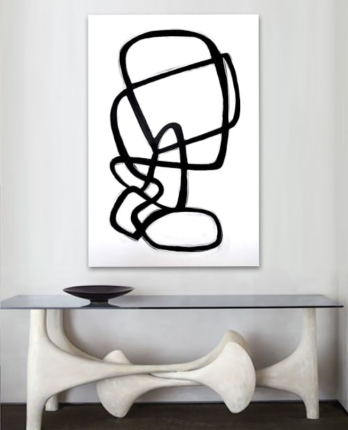 Paintings by Linnea Heide contemporary fine art seen at Private Residence - 'FORTUNE' original abstract painting by Linnea Heide