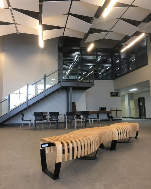 Benches & Ottomans by Green Furniture Concept seen at Collège Montmorency, Laval - The Nova C Bench