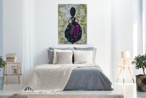 Wall Hangings by Lili John seen at Private Residence, Totnes - Belle Of The Ball Giclee Print size - A2