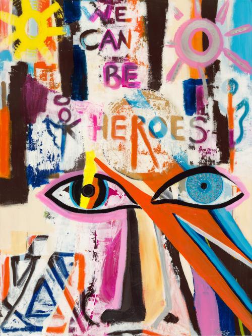 Paintings by Artist Bridget Griggs seen at Private Residence - Diamonds In My Eyes