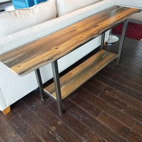 Tables by BEVEL WOOD & METAL seen at Private Residence, Lawrence - Console Table