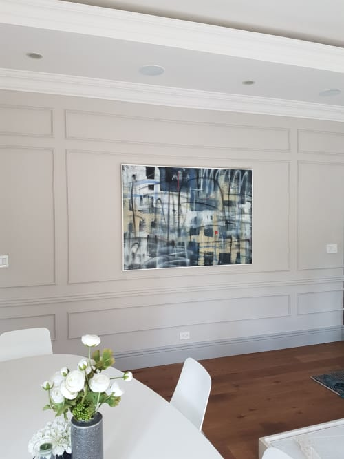 Paintings by Mod Cardenas seen at Private Residence - Original painting in collector´s home