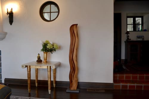 Sculptures by Lutz Hornischer seen at Private Residence, Orinda - Abstract Wood Sculpture - La Luz