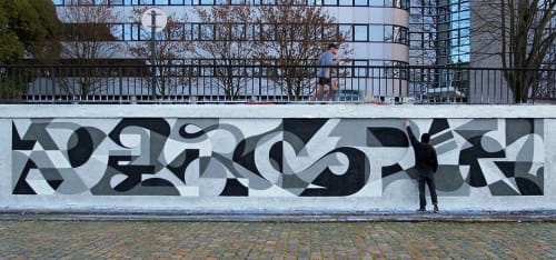Murals by MATT W. MOORE seen at Private Residence, Nantes - MWM Letterforms.