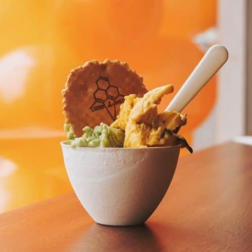 Tableware by Mieke Cuppen seen at Ludo & Hedo - Gelato Branch, Amsterdam - Bagastro Disposable Dinnerware