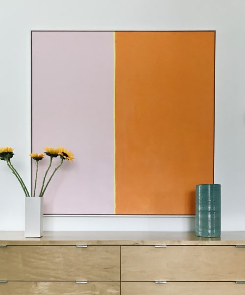 Paintings by Ellen Richman seen at Private Residence, Minneapolis - Color Series Pink and Orange