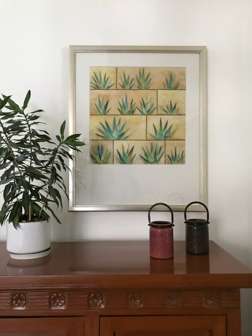 Paintings by Laila Vazquez seen at Private Residence, Mexico City - Magueyal
