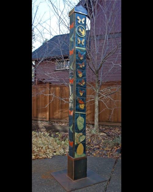 Public Sculptures by Gregory Fields seen at Lake Oswego, Lake Oswego - Pollinators