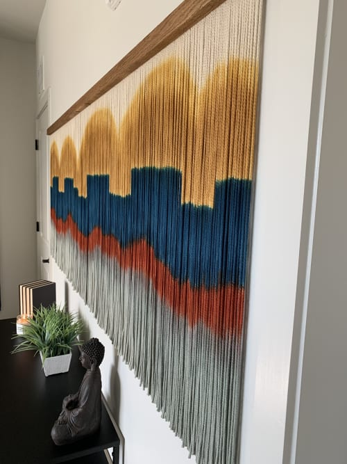 Macrame Wall Hanging by Jay Durán @ J. Durán Art + Home seen at Dallas, Dallas - Commissioned Arizona Macrame Wall Hanging / Fiber Art