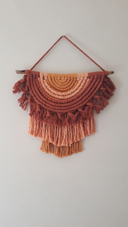 Macrame Wall Hanging by Tangled Up In Knots seen at Creator's Studio, Knightstown - Sonoran Sunset Wall Hanging