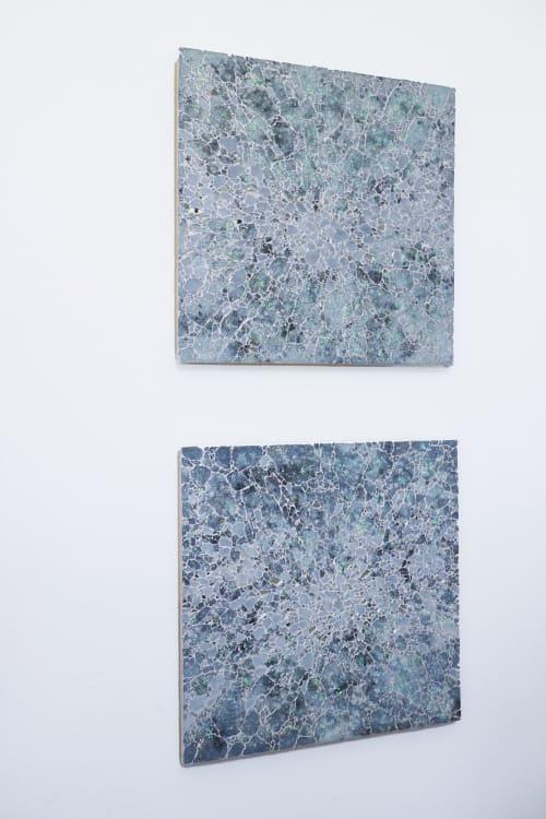 Wall Hangings by Chieko Shimizu Fujioka seen at Private Residence - Muted Shadow No.1 & No.2