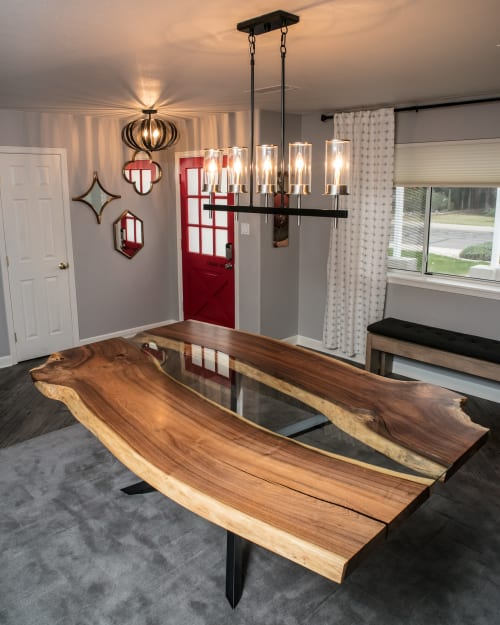 Live Edge Mesquite Dining Table By Lumberlust Designs Seen