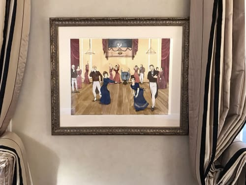Paintings by Kathy Aoki, artist seen at Private Residence, Napa - (She) Twerkin'