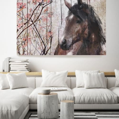 Paintings by Irena Orlov seen at Private Residence, Los Angeles - Horse painting