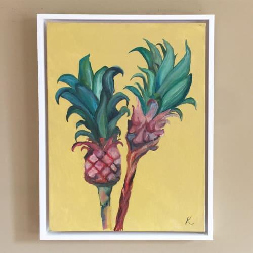 Paintings by Krista Skehan seen at Private Residence, Menlo Park - Pineapple painting