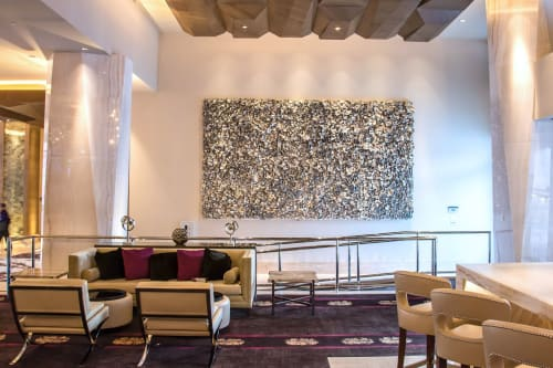 Sculptures by Ron Dier Design seen at Graton Resort & Casino, Rohnert Park - Undulating Wall Sculpture